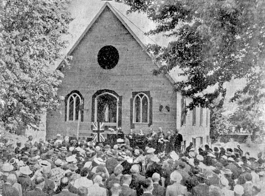 Opening of Warwick United Church, 1939. courtesy M Parker