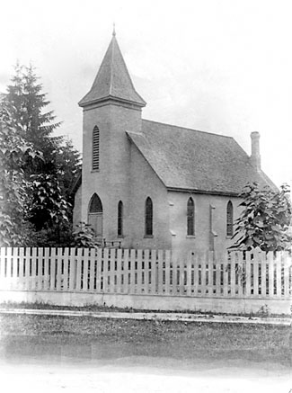 St. Mary's Anglican Church, Warwick, before church bell was installed. courtesy P Janes