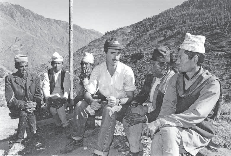 Norman Holbrook working in Nepal. courtesy N Holbrook
