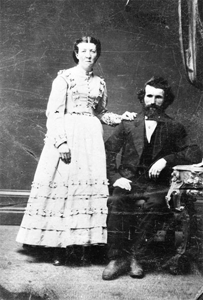Black and white image of Patrick and Mary McLaughlin.