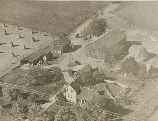 Aerial photograph of the a homeplace.