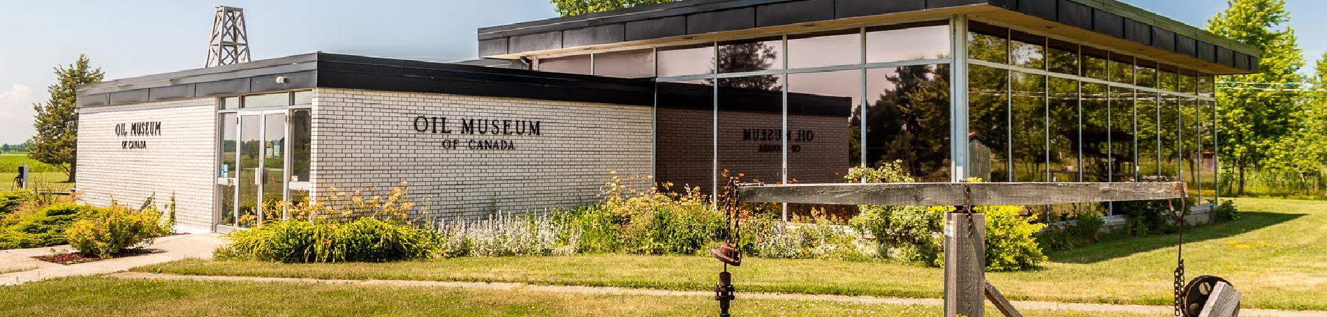 Exterior of the Oil Museum of Canada