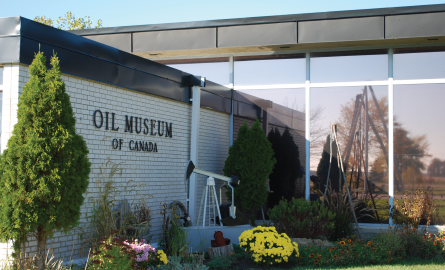 Front of Oil Museum of Canada building