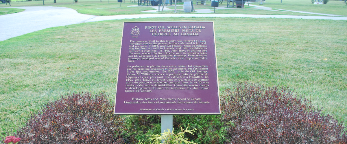 National Historic plaque.