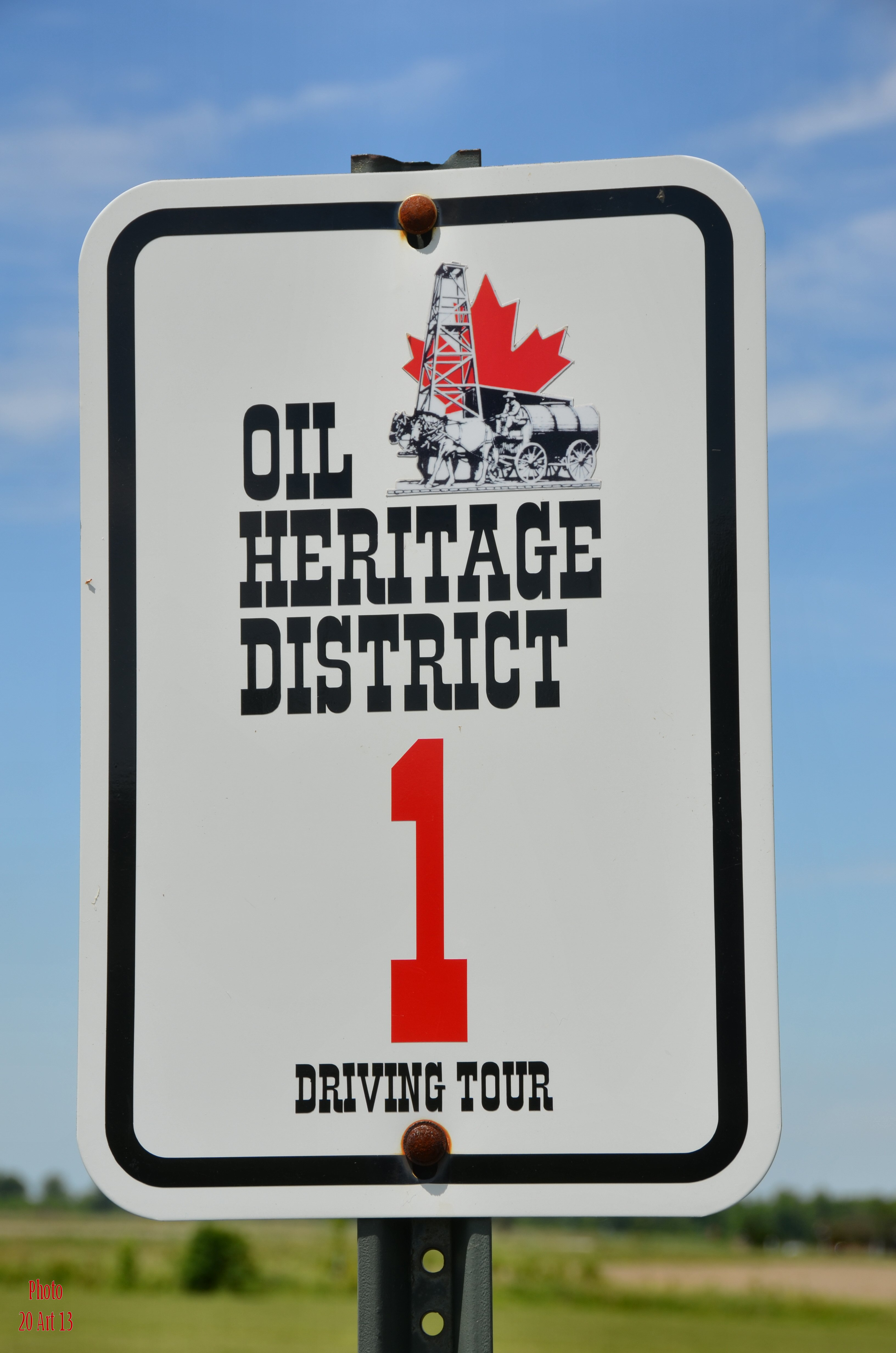 Sign for driving tour.